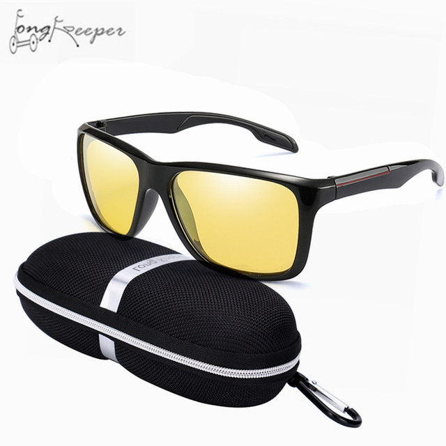 8c8b3a0777 Cycling Driving Photochromic Sunglasses Men Women Polarized Night Vision  Chameleon Discoloration Sun Glasses Accessories Case