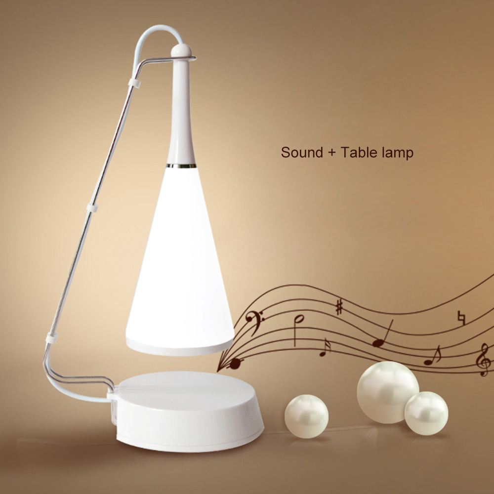 Novelty Wireless Bluetooth Speaker Desk Lamp USB Touch 5V LED Table Night Light Smart Mu ...
