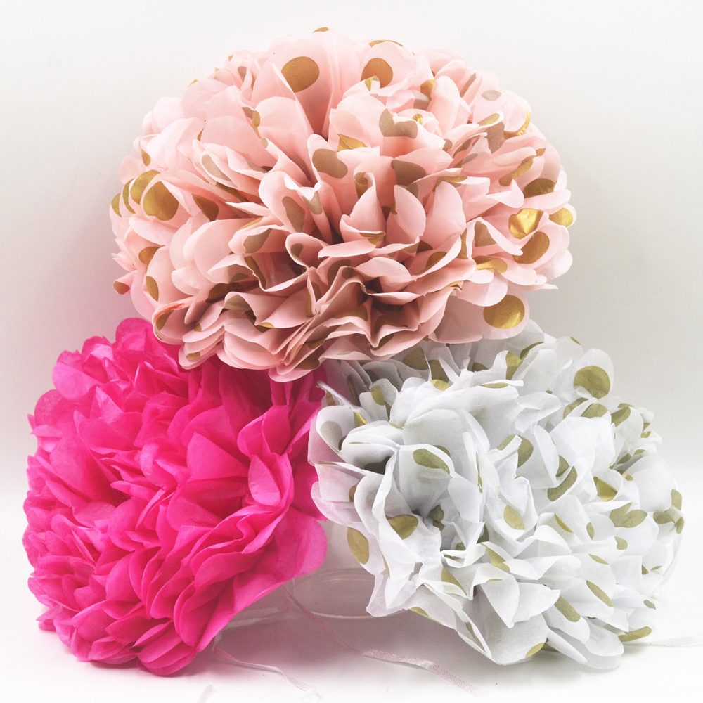 Aliexpress Buy 5 Pcs 25cm10inch Tissue Paper Pom Poms
