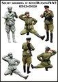 Modelos a escala de 1/35 soldados Soviéticos en reposo (1943-1945) de la SEGUNDA GUERRA MUNDIAL Resina Modelo Envío Gratis