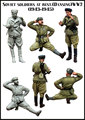 Scale Models 1/35  Soviet soldiers at rest (1943-1945)    WWII Resin Model Free Shipping