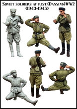 Maquettes 1/35 soldats Soviétiques au repos (1943-1945) LA SECONDE GUERRE MONDIALE Résine Modèle Livraison Gratuite