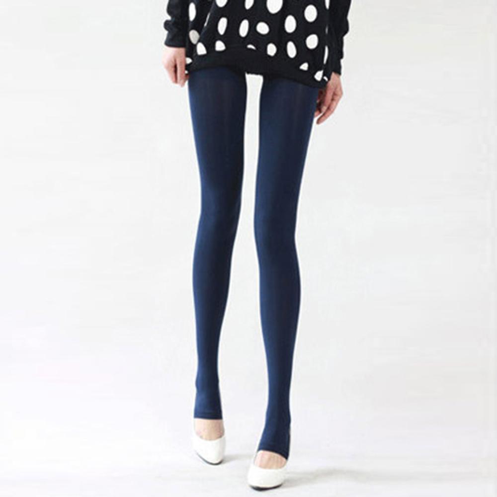 Шаг ноги женские теплые колготки 120D бархатные Collants весна осень Чулочные изделия Fantaisie сексуальные колготки эластичные Strumpfhose тонкие Medias - Цвет: Navy