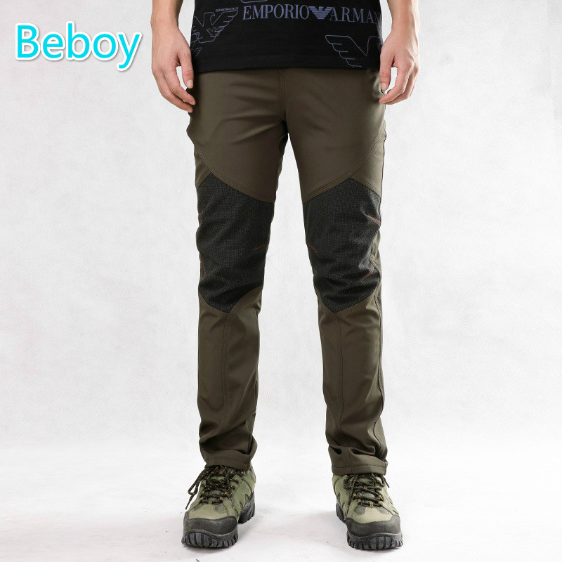 ФОТО Resistant Fleece Climbing Hiking Pants Men Women Stretch Waterproof Warm Pants Full Length Patchwork Windproof Outdoor Sportwear