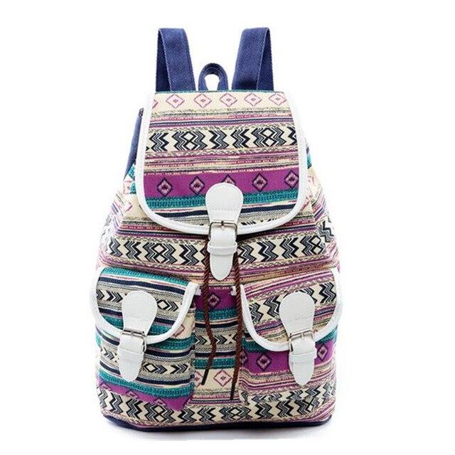 1721cb3dab41 Bohemian Style Girls Backpacks for Teenagers Summer Flower Print Women  Beach Backpack for Female Girls School Backpacks Mochila