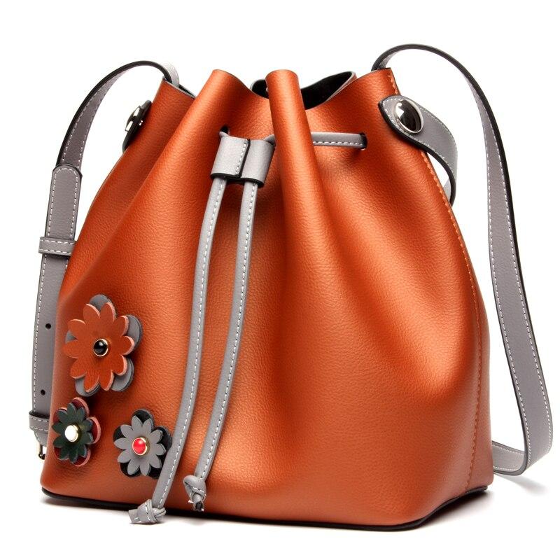 ROWLING 2017 women s bag font b SET b font new fashion bucket 100 genuine leather