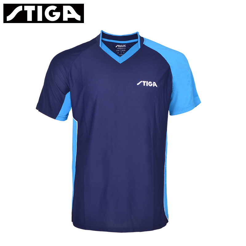 Stiga Table-Tennis-Clothes T-Shirt Jersey Clothing Ping-Pong for Men Women Short-Sleeved