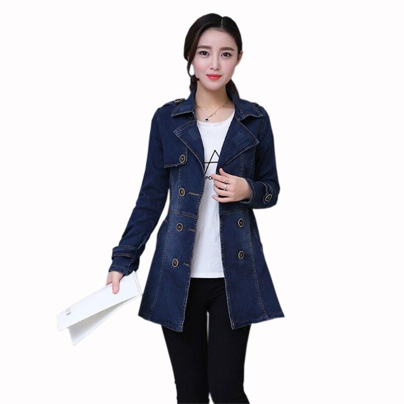 2019 Long Sleeve Denim Jacket Women Autumn Winter Loose Thin Wild Windbreaker Jacket Women Plus Size