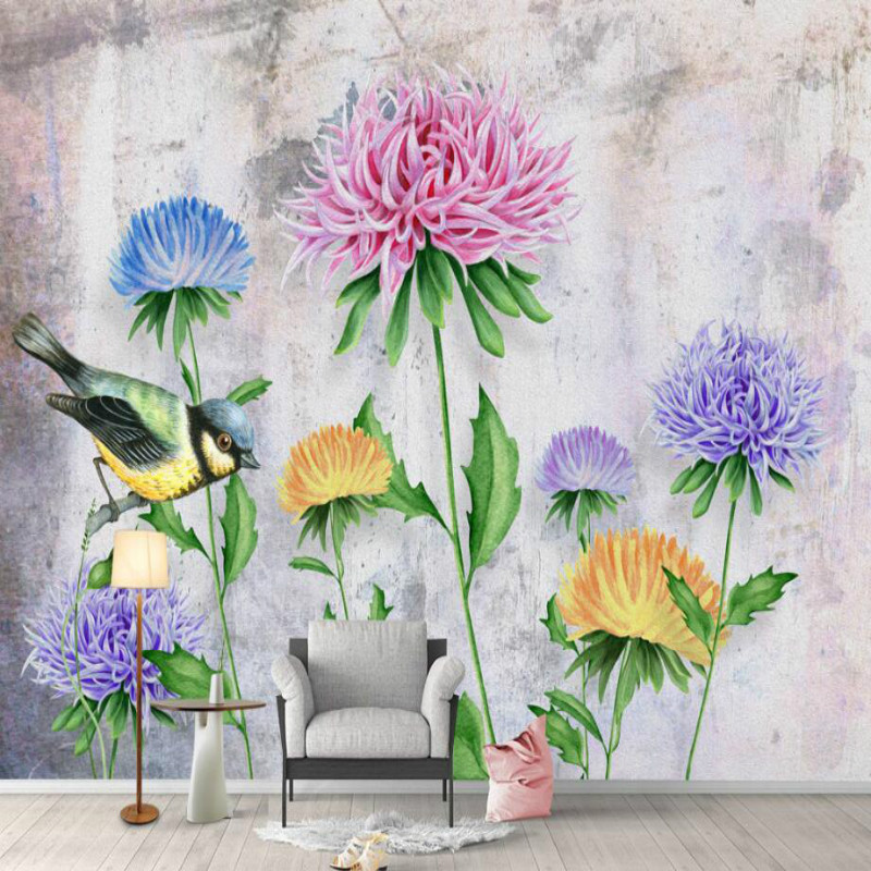 Custom Made Home Improvement Decor 3D Wallpaper for Walls Modern flowerl Wall Papers Mural for Living Room