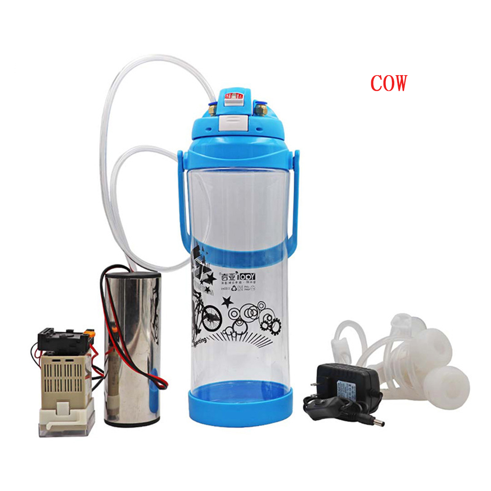 3L Electric Cow Milking Machine Manual Impulse Portable Cow Milking Machine Double Head Vacuum Pump Milker