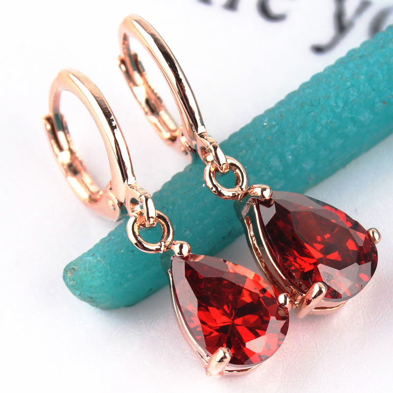 Free Shipping Trendy Women S Gold Color Jewelry High Quality Cz Stone Drop Dangle Earrings For Gift Party In From