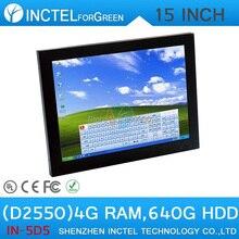 15 дюймов Главная PC Офис Все В Одном Компьютере с высокой температурой 5 провод Gtouch промышленных встроенных 4: 3 6COM LPT 4 Г RAM 640 Г HDD