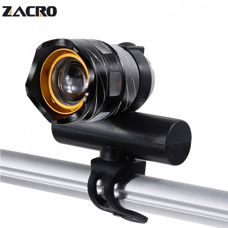 Zacro Bike Lamp Rechargeable Led Cycling Bicycle Bycicle Light T6 Free Zoom 3 Modes Fast Charging Flashlight For Bike Velofonar