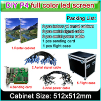 led video wall P4 indoor RGB full Color led large screen display information sign and cabinet size 512x512mm