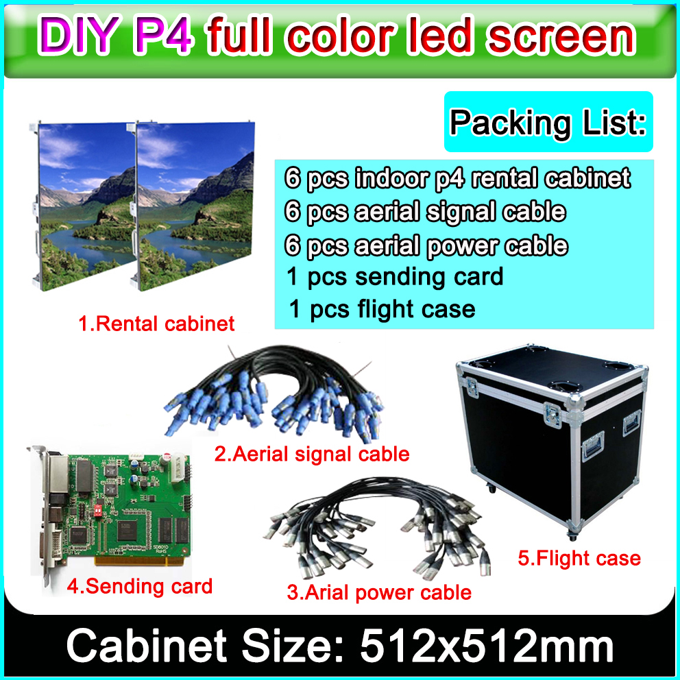led video wall P4 indoor RGB full Color led large-screen display information sign and cabinet size 512x512mmled video wall P4 indoor RGB full Color led large-screen display information sign and cabinet size 512x512mm