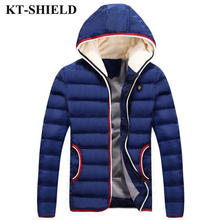 New Brand Winter Men Jacket Parka Wool Warm Hooded Outerwear For Men Thicken Windproof Down Cotton