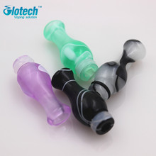 Glotech 5pcs/Lot Acrylic Drip Tips and colorful double gourd Mouth 510 Celluloid gourd Drip tip Electronic Cigarette drip tip