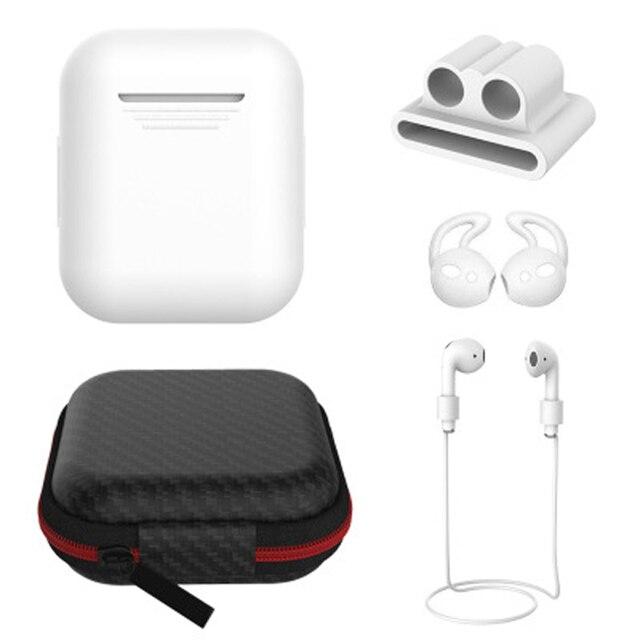 Funda de silicona suave para los Airpods a prueba de golpes auriculares cubierta protectora impermeable auriculares 6 en 1 funda de silicona para caja de carga