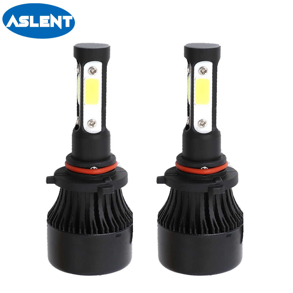 ASLENT 4 side lumen H7 LED bulb H4 H11 H8 H9 HB3 HB4 9005 9006 9004 9007 Car Headlight Fog light Auto Lamp 100W 12000LM 6500K