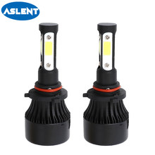 ASLENT 4 side lumen H7 LED bulb H4 H11 H8 H9 HB3 HB4 9005 9006 9004 9007 Car Headlight Fog light Auto Lamp 100W 12000LM 6500K(China)