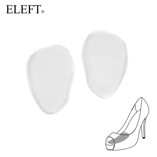 ELEFT New 2018 Invisible gel silicone insoles forefoot pad feet care Gel Pad   forefoot pads anti slip for high heels woman
