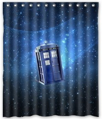 Doctor Who Box In The Galaxy Waterproof Poloyester Fabric Shower Curtain Size