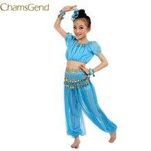 e094b96ecd Recién llegados nuevo hecho a mano niños niña trajes de danza del vientre  niños danza del vientre de Egipto baile de tela + Tops.