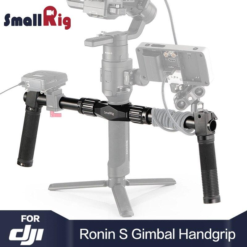 SmallRig DSLR kamera uchwyt podwójny uchwyt dla DJI Ronin S/dla Ronin SC Gimbal ręcznie podczas fotografowania z DSLR stabilizator kamery 2250 w Monopody od Elektronika użytkowa na  Grupa 1