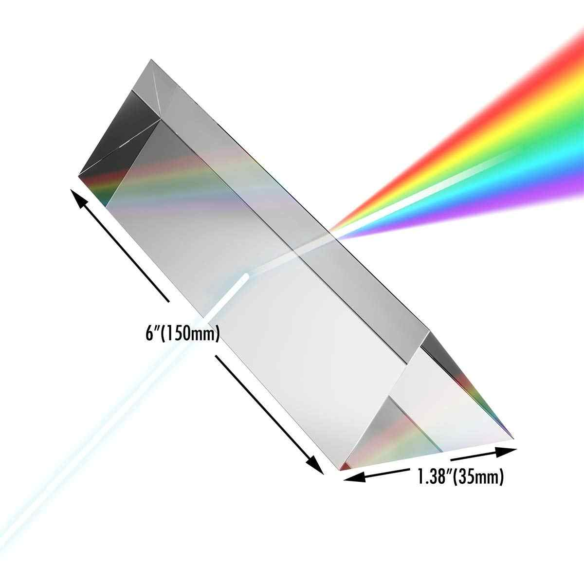 Радужный инструмент для быстрой фотосъемки, оптическое стекло с прямым углом, отражающая треугольная призма, оптический светильник, красочный с вашей камерой