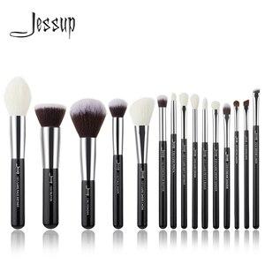 Image 1 - Набор кистей для макияжа черного/серебряного цвета