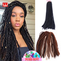 20 Inches Long Braiding Hair Synthetic Crochet Hair Havana Mambo Faux Locs Braids Crochet Dreads Synthetic Hair Dreadlocks Hair