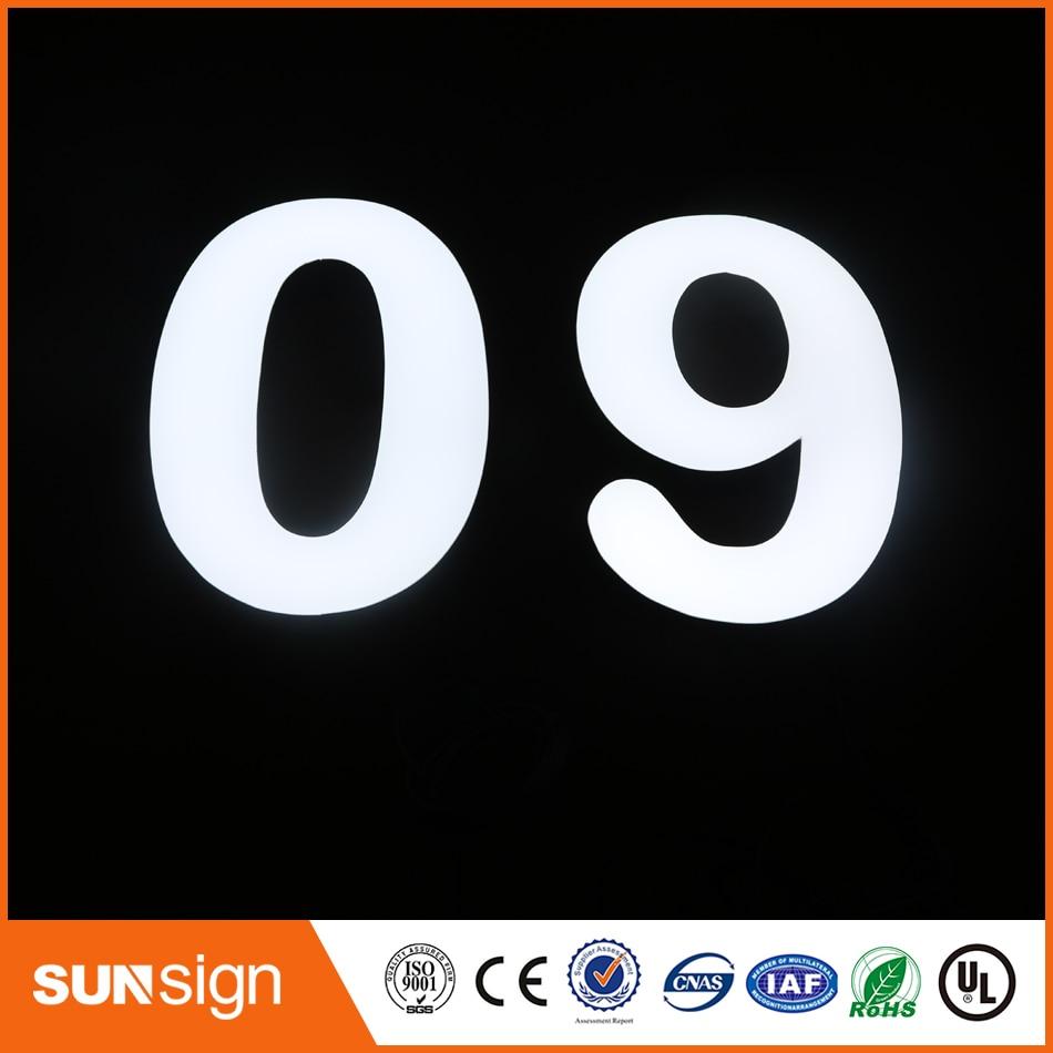 custom light sign epoxy resin led letter signage