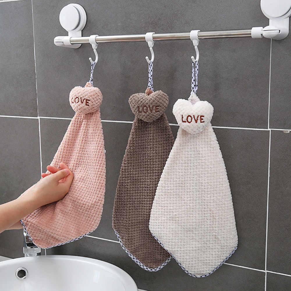 Ouneed New Arrival Cute Cartoon Love Thickened Towel Kitchen Hanging Water Towel Dining Home Tool Dropshipping