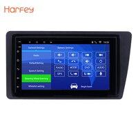 Harfey Android 6,0 7 дюймов 2Din автомобильное радио для Honda Civic 2001 2002 2003 2004 2005 сенсорный HD 1080 P gps мультимедийный плеер