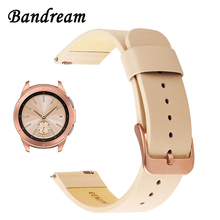 Echt Lederen Horlogeband 20Mm Voor Samsung Galaxy Horloge 42Mm R810 Quick Release Band Vervanging Band Pols Rose goud