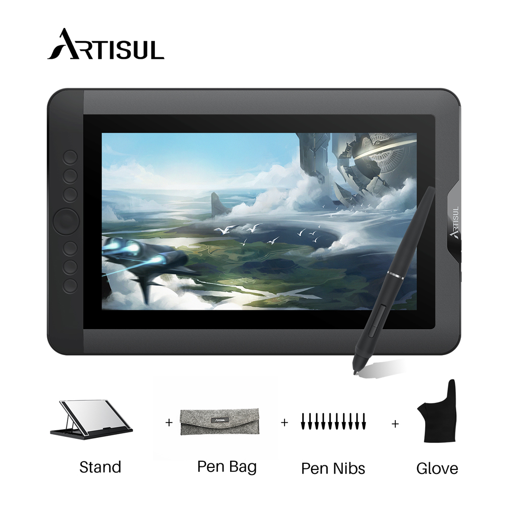 Artisul D13S 13.3 Inch Digital Graphic Tablet Drawing Battery-free Drawing Tablet Monitor 8192 Levels With Keys
