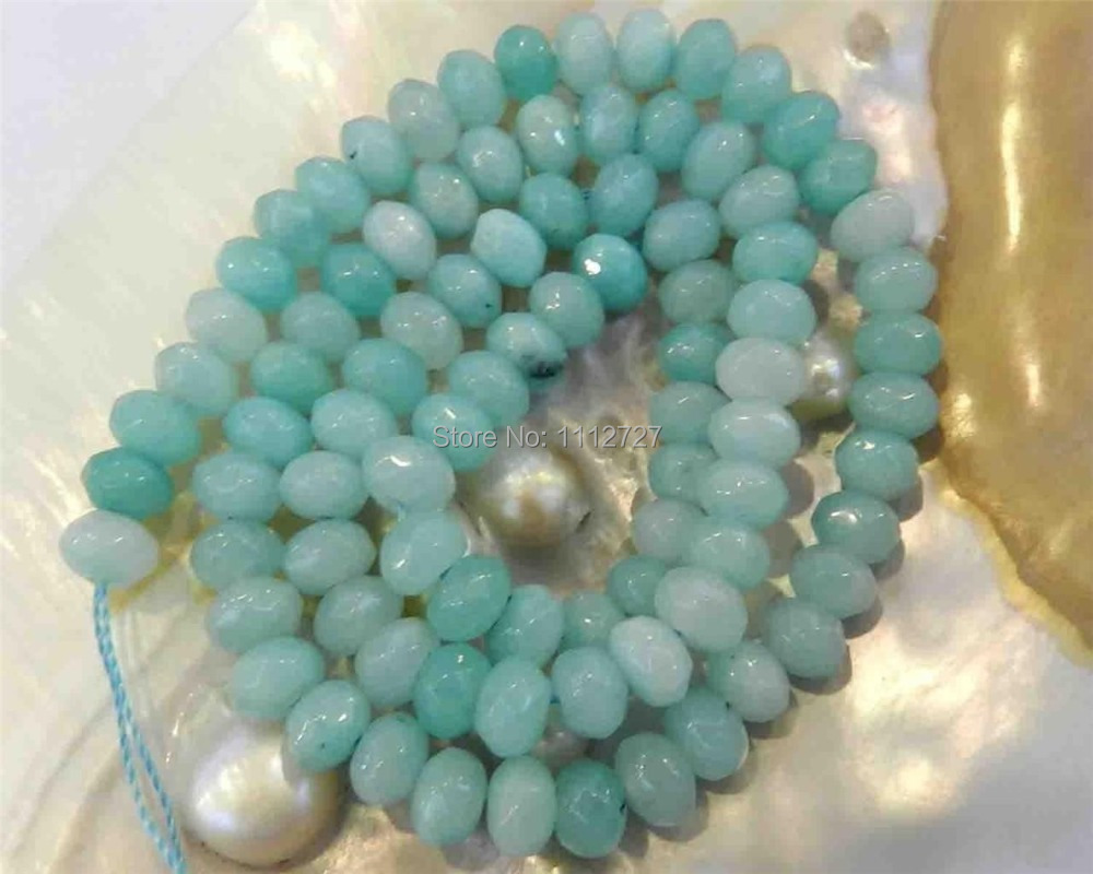 Wholesale price natural stone 4x6mm light blue faceted for Natural stone lighting