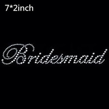 2pc/lot Bridesmaid – bridal iron on Rhinestone transfer designs iron on transfer hot fix rhinestone motif rhinestones fix
