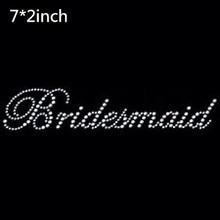 2pc/lot Bridesmaid - bridal iron on Rhinestone transfer designs hot fix rhinestone motif rhinestones