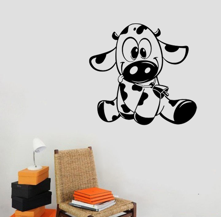 Baby Cow wall decals vinyl stickers home decor living room ...