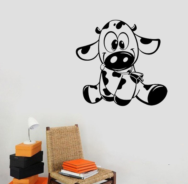 baby cow wall decals vinyl stickers home decor living room