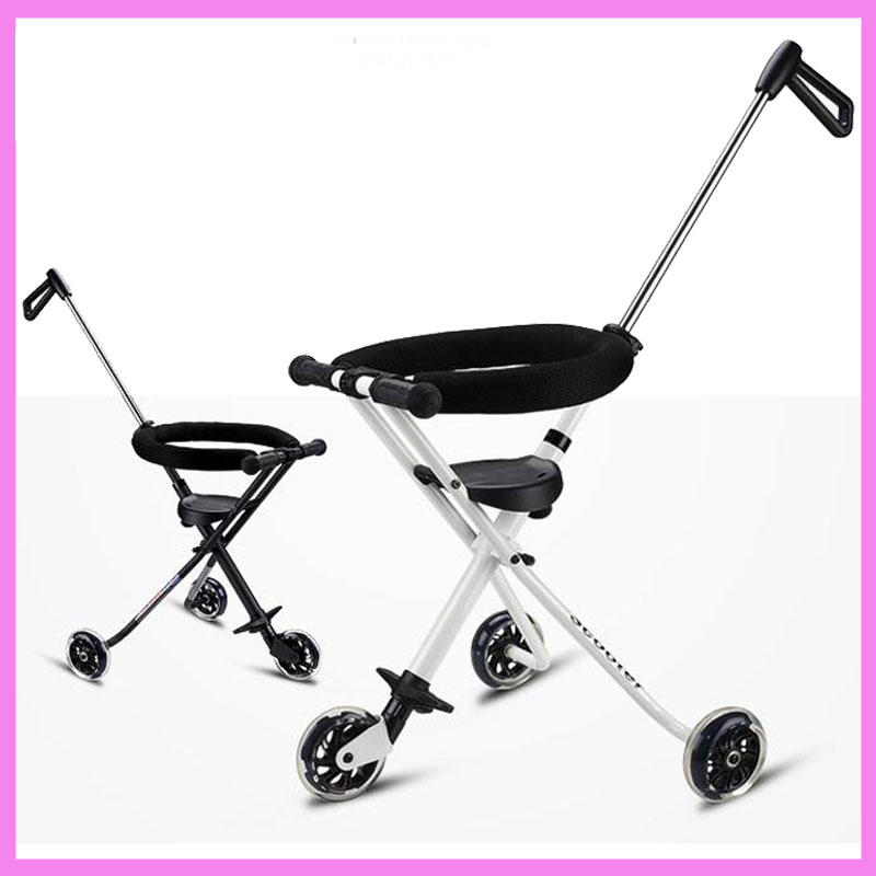 Folding Tricycle Trolley Stroller Portable Travel Super Light Stroller Handbar Pram Pushchair 3 Wheels Baby Child Tricycle 1- 3Y child drift trike 4 wheels walker kids ride on toys for 1 3 years tricycle outdoor driver