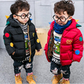 Fashion Dinosaur Children Winter Cotton Coat Baby Boys And Girls Hooded Parkas Children Outerwear Coats Kids Down Jacket