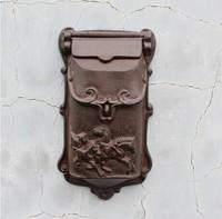 Деревенский чугун почтовый ящик металлические буквы почтовый ящик настенный Postbox страна Домашний Декор сад двор поставки