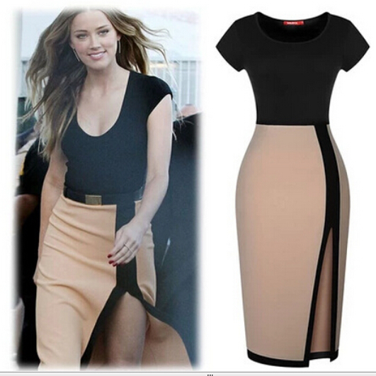 Vestido Ajustado Corta, Ropa Femenina Para Mujer Negro -5535