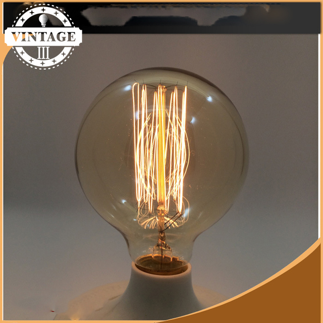 Lightinbox 220V Incandescent Vintage Bulb E27 40W Retro Edison Style Light  Bulbs G125 Tungsten Lamp Wholesale