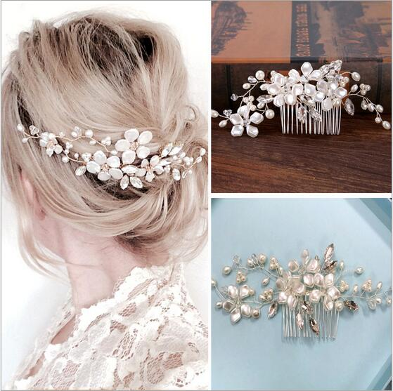 Top Quality Bridal Hair Comb Pom Bridal Hair Accessories Bridesmaid Gift Hair Band Headband For Girl bride Jewelry Headpiece fashion bow dot hair sticker magic paste post fabric flower rabbit mini bb girl headband hair comb accessories 6pcs jewelry gift