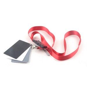 Image 4 - 3 Trong 1 Túi Kích Thước Kỹ Thuật Số Trắng Đen Xám Cân Bằng Thẻ 18% Xám Thẻ Có Dây Đeo Cổ Cho Kỹ Thuật Số chụp Ảnh