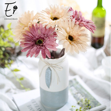 Erxiaobao Daisy Artificial Flowers Gerbera African Chrysanthemum Fake Silk Plants Wedding Party Home Decoration Gift