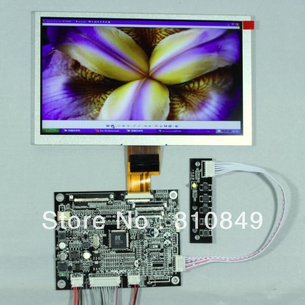 VGA CVBS LCD Controller Board With 8 ZJ080NA-08A 1024x600 LCD Screen citizen fe1081 08a